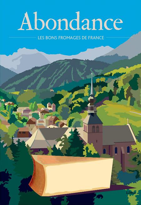 Les bons fromages de France : l'abondance