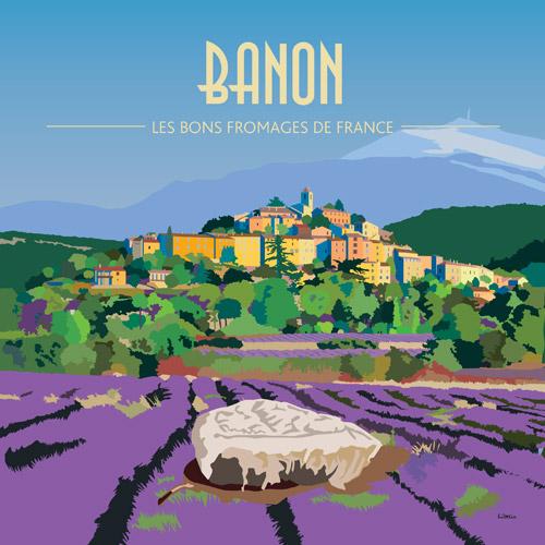 Affiche carrée Banon