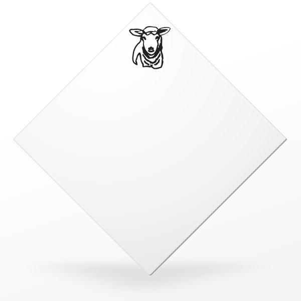 Pic carré à plateau de fromage de brebis