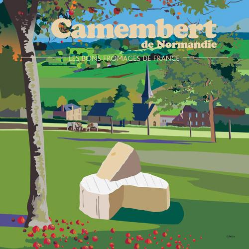 Affiche carrée Camembert