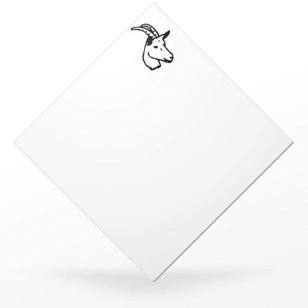 Pic carré à plateau de fromage de chèvre