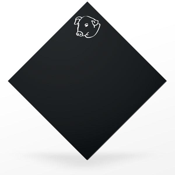 Pic à charcuterie carré et noir : cochon