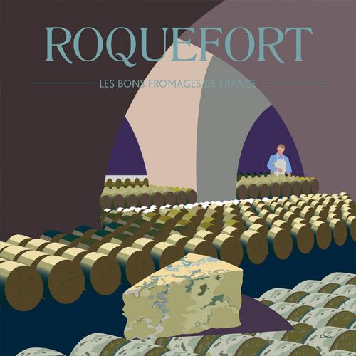 Affiche carrée Roquefort
