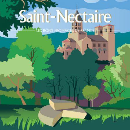 Affiche carrée Saint-Nectaire