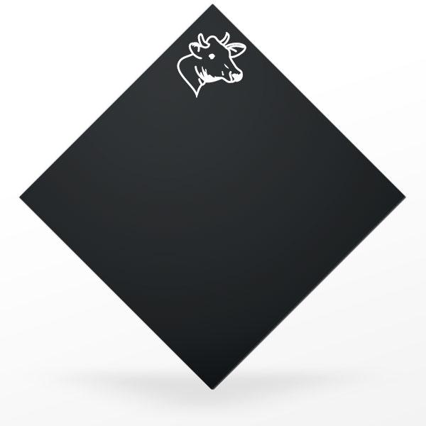 Pic à fromage carré et noir : vache