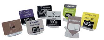 Étiquettes diverses pour les vitrines de fromagers